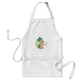 Fairy/Faerie/Pixie Girl on Crescent Moon with Wand Adult Apron