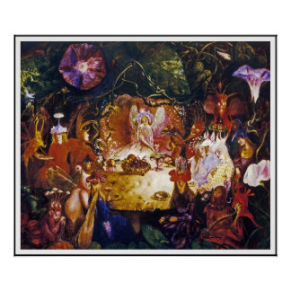 Fairy (Faerie) Poster Print:  Fairy Banquet