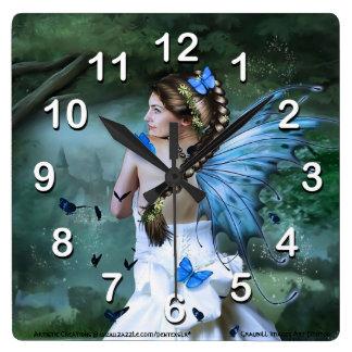 Fairy Fantasy Square Wall Clock