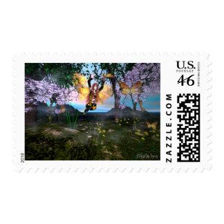 Fairy FireGlitter Postage Stamp