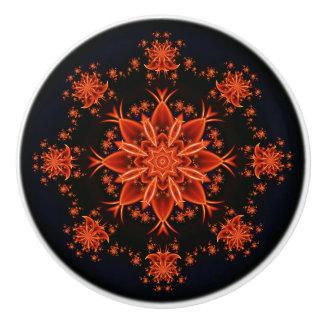 Fairy flower dance ceramic knob