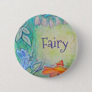Fairy Flower Garden Art Custom Button Pins