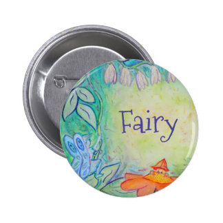 Fairy Flower Garden Art Custom Button Pins