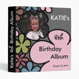 Fairy Flower Kids Birthday Album 3 Ring Binder