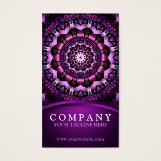 Fairy Flower Mandala Business Card