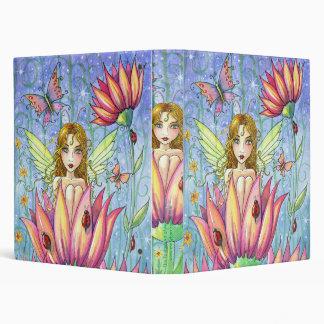 Fairy Flowers Butterflies Ladybugs Binder