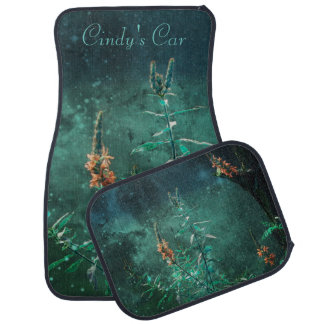 Fairy Flowers in the Jade Moonlight Car Floor Mat