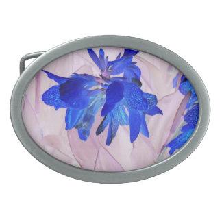Fairy flowers Oval Belt Buckle