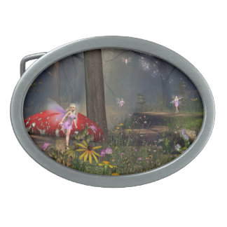 Fairy forest belt buckle