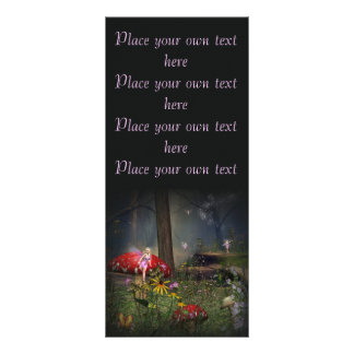 Fairy forest Bookmark Customize it Rack Card Template