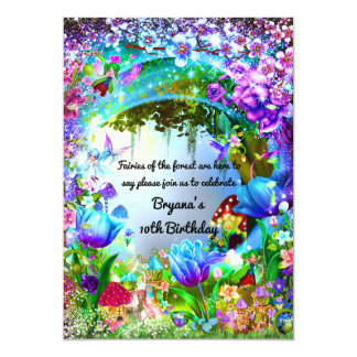 Fairy Forest Enchanted Magical Birthday Party Card