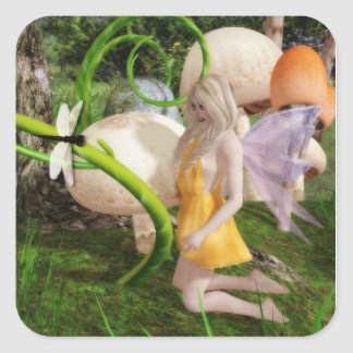 Fairy forest garden 2 sticker square stickers