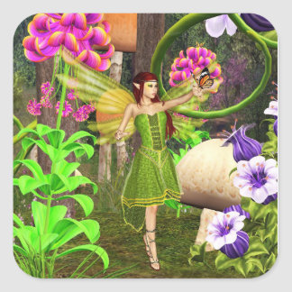 Fairy forest garden 3 sticker sticker
