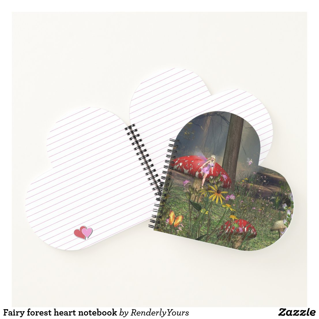 Fairy forest heart notebook