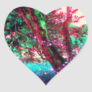 Fairy Forest Heart Stickers