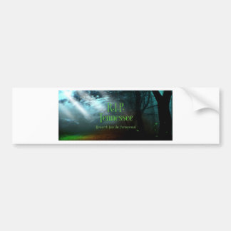 Fairy Forest Logo RIP Tennessee Bumper Sticker