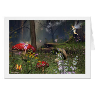 Fairy forest play card