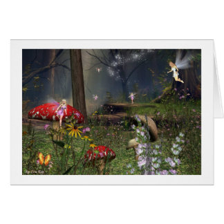 fairy forest stationery note card