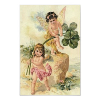 Fairy Four Leaf Clover Fey Photo Print