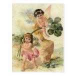 Fairy Four Leaf Clover Fey Postcard