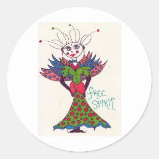 Fairy Free Spirit Classic Round Sticker