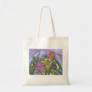 Fairy Friends Among the Flowers Tote Bag
