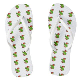 Fairy Frog Flip Flops