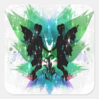 Fairy Frolic Square Sticker