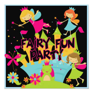 Fairy Fun Customized Birthday Invitations