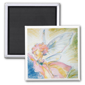 Fairy Gal 2 Inch Square Magnet