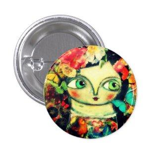 Fairy garden 1 inch round button