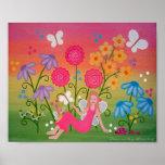 Fairy Garden - 8x10 Mother Daughter Girls Kids Art Poster