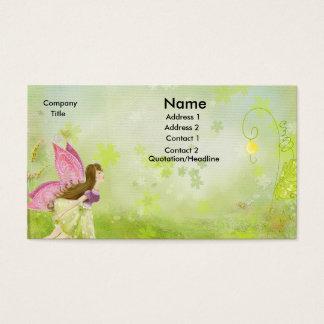 fairy garden business card