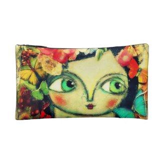 Fairy garden cosmetic bag