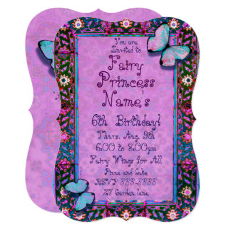 Fairy Garden Party Invite! Butterfly and Flowers Card