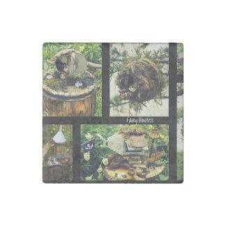 Fairy Garden Stone Magnet