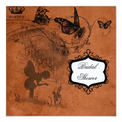 Fairy Garden Wedding Bridal Shower Invitation