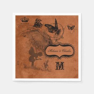 Fairy Garden Wedding Personalized Paper  Napkins