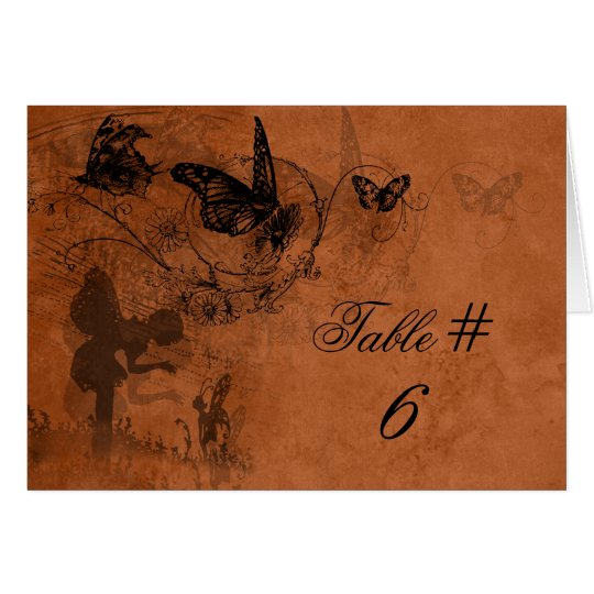 Fairy Garden Wedding Table Number Cards
