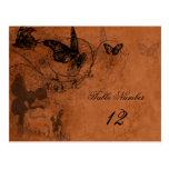 Fairy Garden Wedding Table Number Postcard