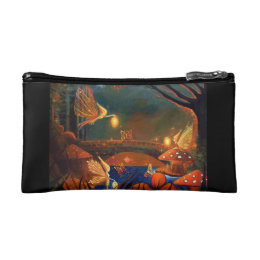 Fairy Gathering Fairy Art by Susan Rodio Cosmetic Bag