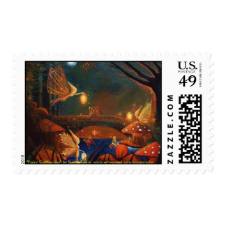 Fairy Gathering Postage Stamps
