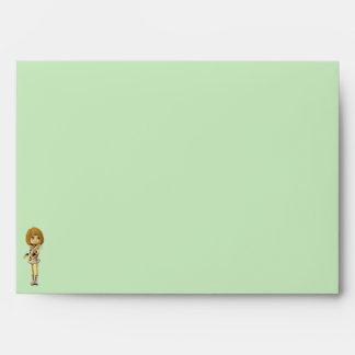Fairy Girl Greeting Card Envelope