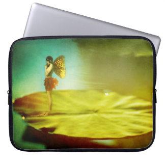 Fairy Girl on Lilypad Sleeve Laptop Sleeves