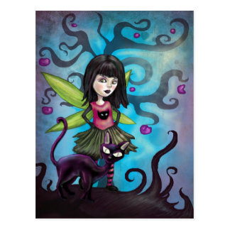 Fairy Girl Who Loves Cats Postcard