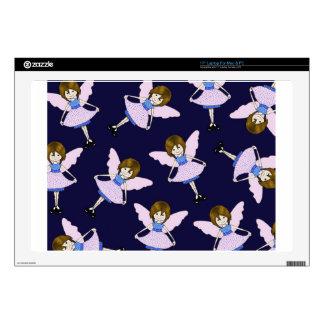 """Fairy Girl with Wings, Random Pattern, Art 17"""" Laptop Skin"""