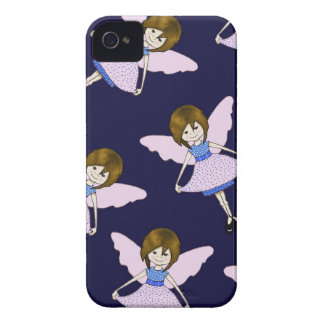Fairy Girl with Wings, Random Pattern, Art Case-Mate iPhone 4 Case