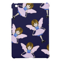 Fairy Girl with Wings, Random Pattern, Art iPad Mini Case
