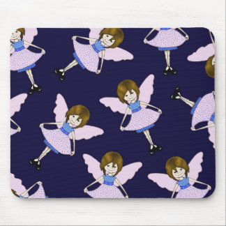 Fairy Girl with Wings, Random Pattern, Art Mouse Pad