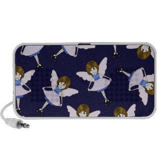 Fairy Girl with Wings, Random Pattern, Art Mp3 Speaker